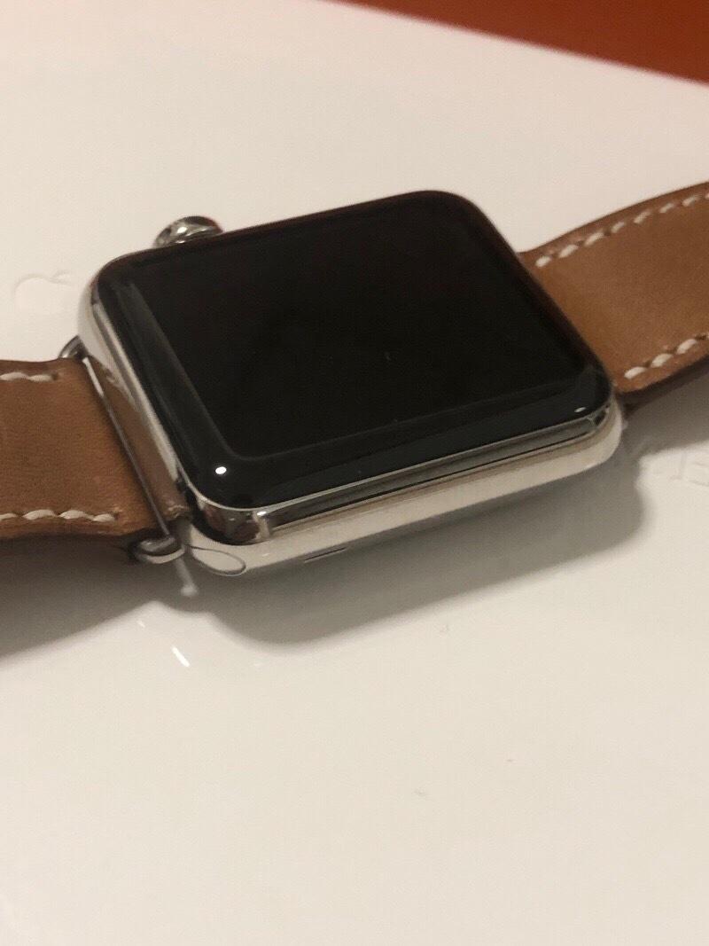 ジャンク エルメス アップルウォッチ 316L 38mm スマートウォッチ 腕時計_画像3