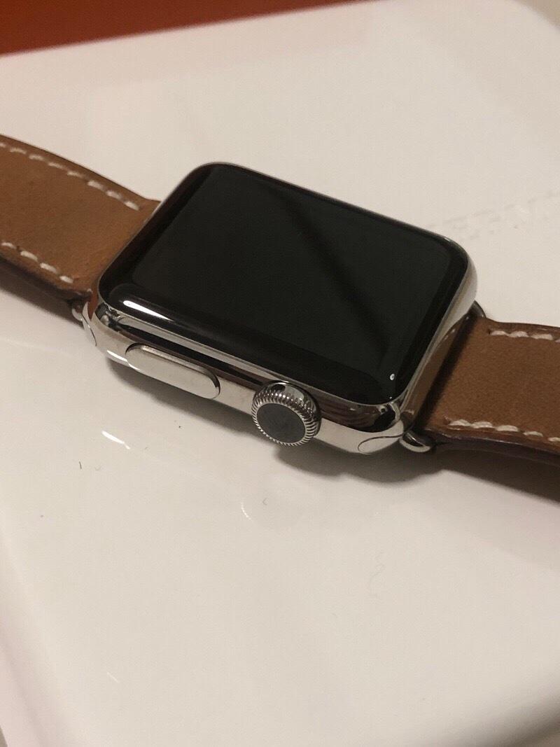 ジャンク エルメス アップルウォッチ 316L 38mm スマートウォッチ 腕時計_画像4