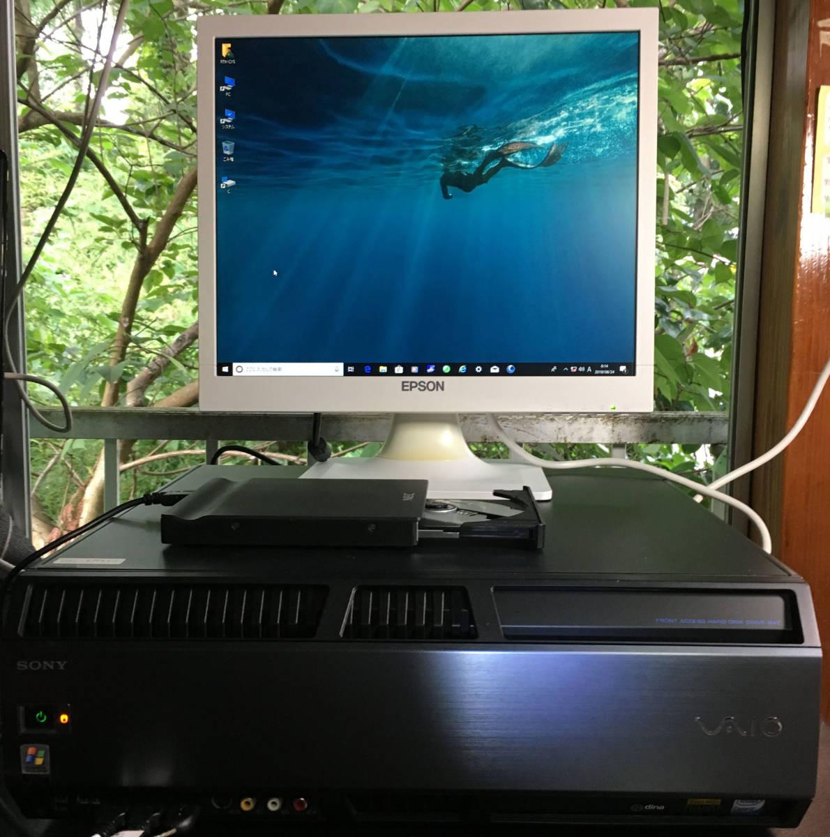 ①SONY VAIO VGC-RM93S(PCV-AB1N) Win10 Pro 64bit Quad Q6600 2.40GHz 8GB 500GB ジャンク扱い 送料無料
