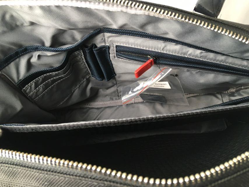新品 未使用 正規品 TUMI ラップトップ・ブリーフ JARVIS ブラック×ネイビー ビジネスバッグ_画像4