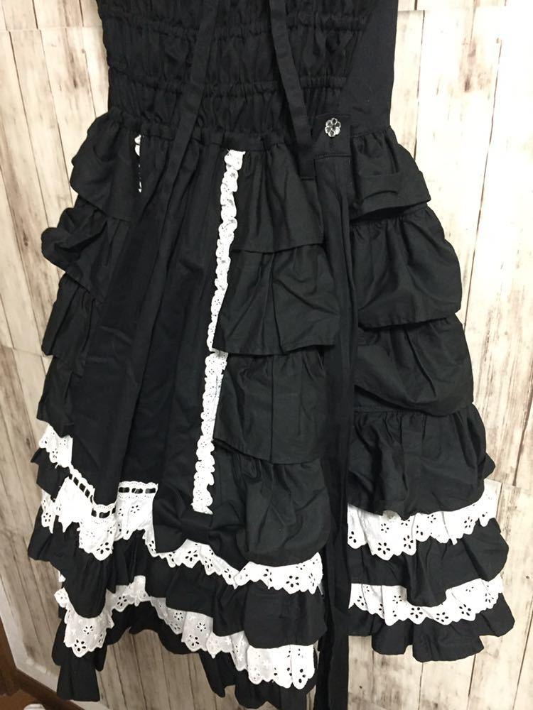 Angelic Pretty アンジェリックプリティー ゴスロリ メイド ワンピース 衣装 uesd 黒白