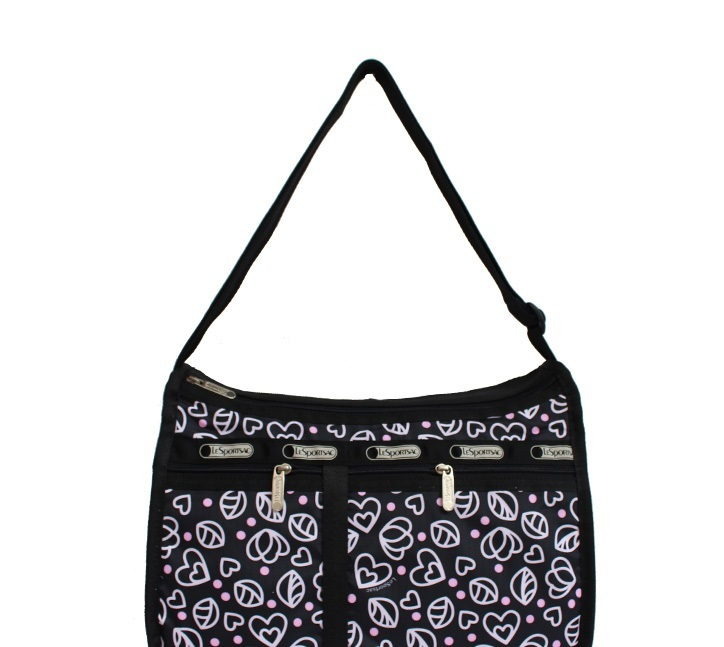 man and woman use BAG * pretty shoulder bag Le Sportsac pouch attaching black