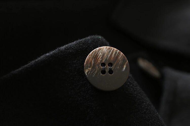 new goods quality lady's 100% both sides wool coat Mod's Coat single button belt black M