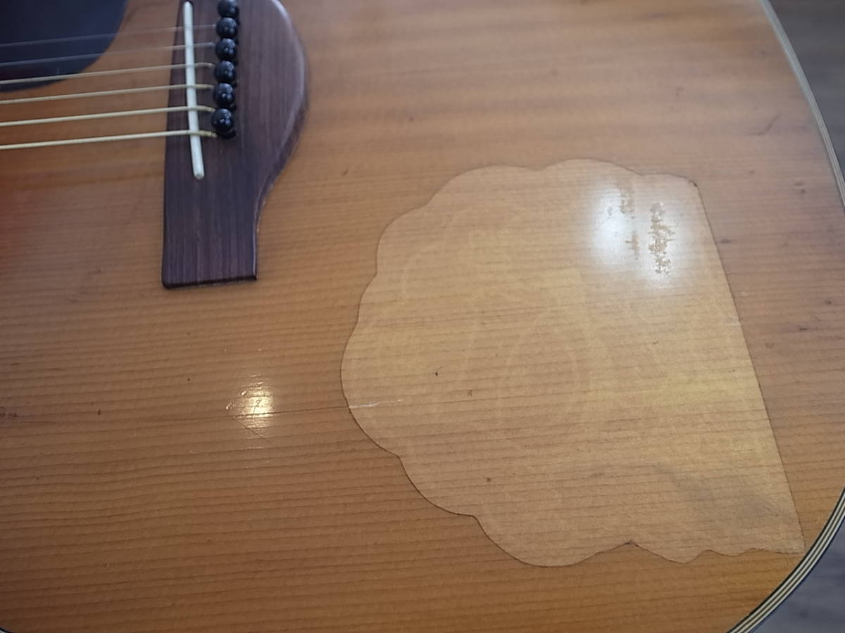 YAMAHA FG-180赤ラベルRED LABEL Japan Vintageヤマハ日本製Made in Japan(検)FG110/130/140/150フォークギター/ アコギ_画像8