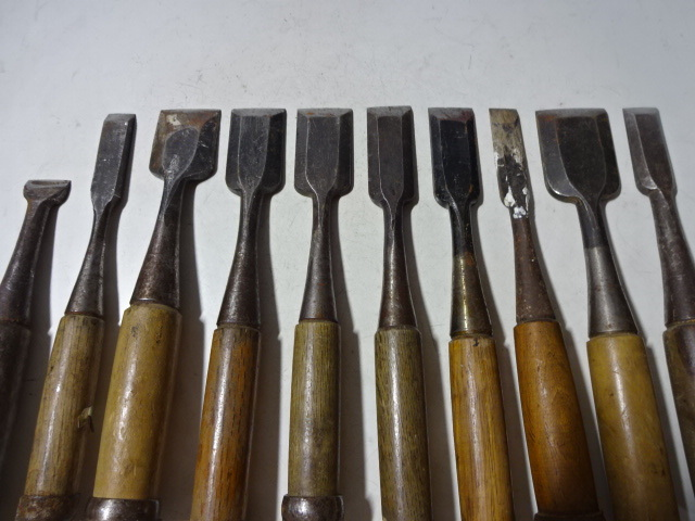 古い大工道具 鑿 ノミ まとめて 10本_画像2