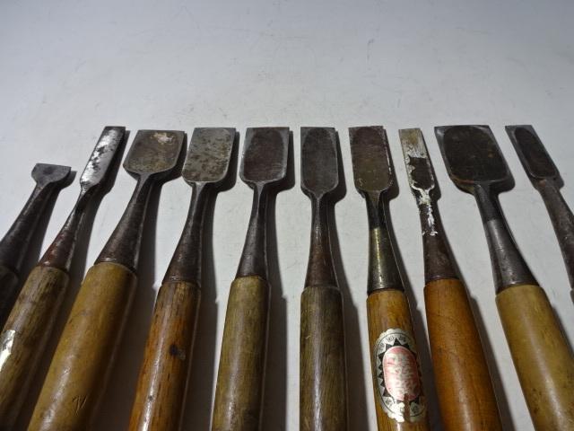 古い大工道具 鑿 ノミ まとめて 10本_画像4