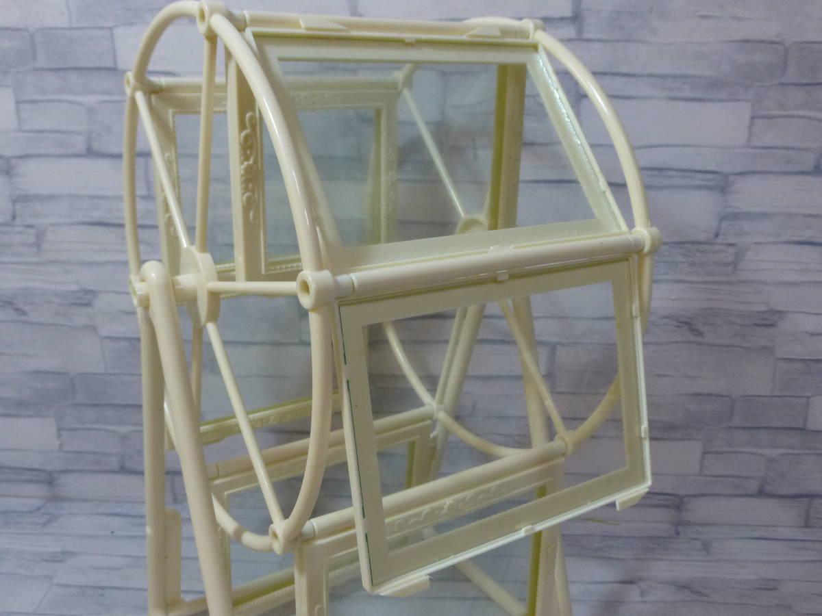 ◆写真立て 回転式 フォトフレーム 観覧車型 12枚 収納 出産祝い ホワイト 組み立て式 インテリア◆Z-10