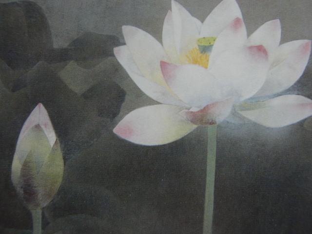 松本 勝 【静】 希少画集画、状態良好、新品高級額装付、送料無料、日本 画家 風景、zero_画像3