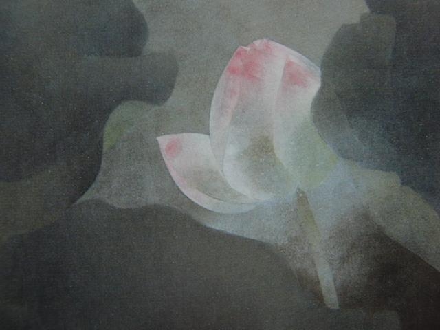 松本 勝 【静】 希少画集画、状態良好、新品高級額装付、送料無料、日本 画家 風景、zero_画像2