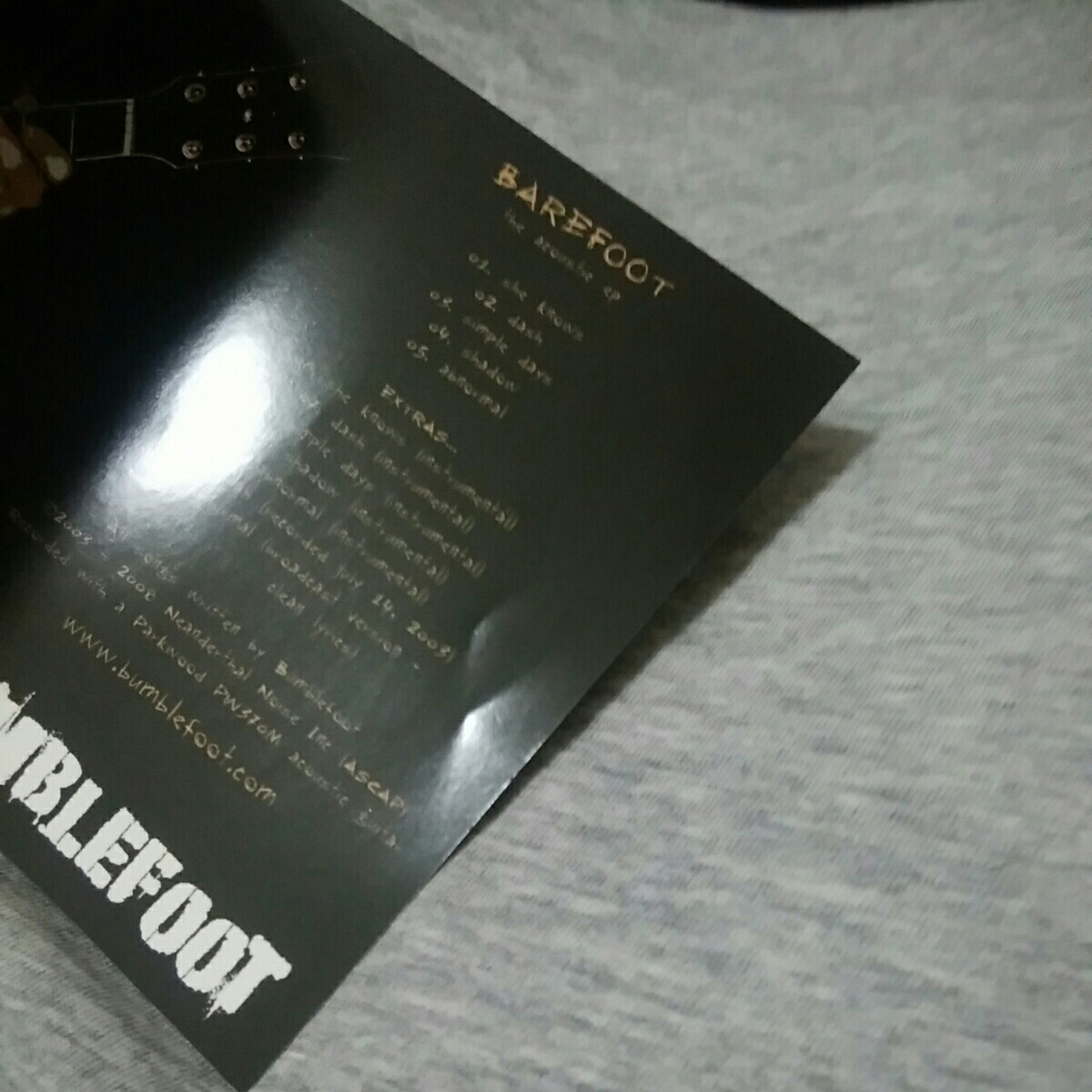 BUMBLEFOOT ロン・サール RON THAL BAREFOOT the acoustic ep_画像3