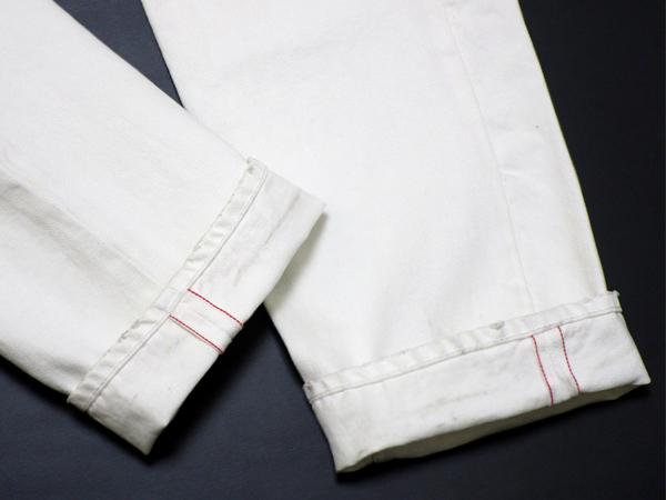 新品 定価4.8万 NEXUS7 ネクサスセブン MAD MAXX Repaired White Denim Pants 限定 ビンテージ 加工 デニム !! soph 藤原ヒロシ 刺し子_画像5