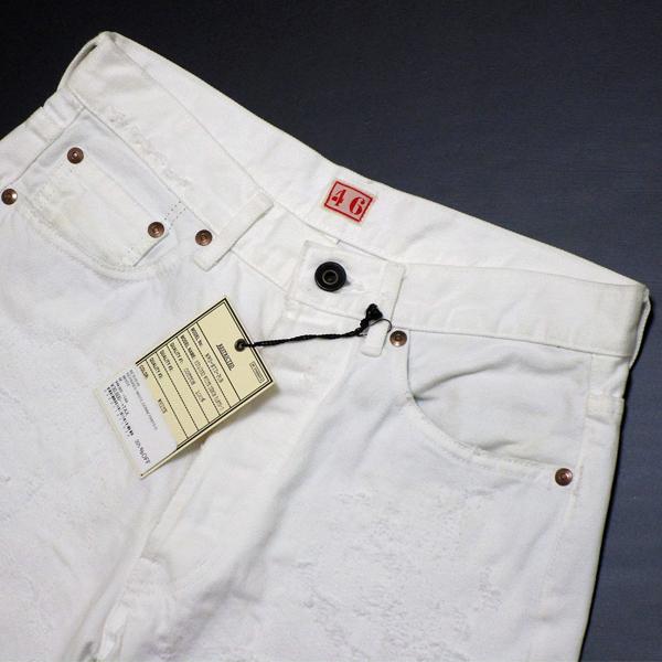 新品 定価4.8万 NEXUS7 ネクサスセブン MAD MAXX Repaired White Denim Pants 限定 ビンテージ 加工 デニム !! soph 藤原ヒロシ 刺し子_画像3