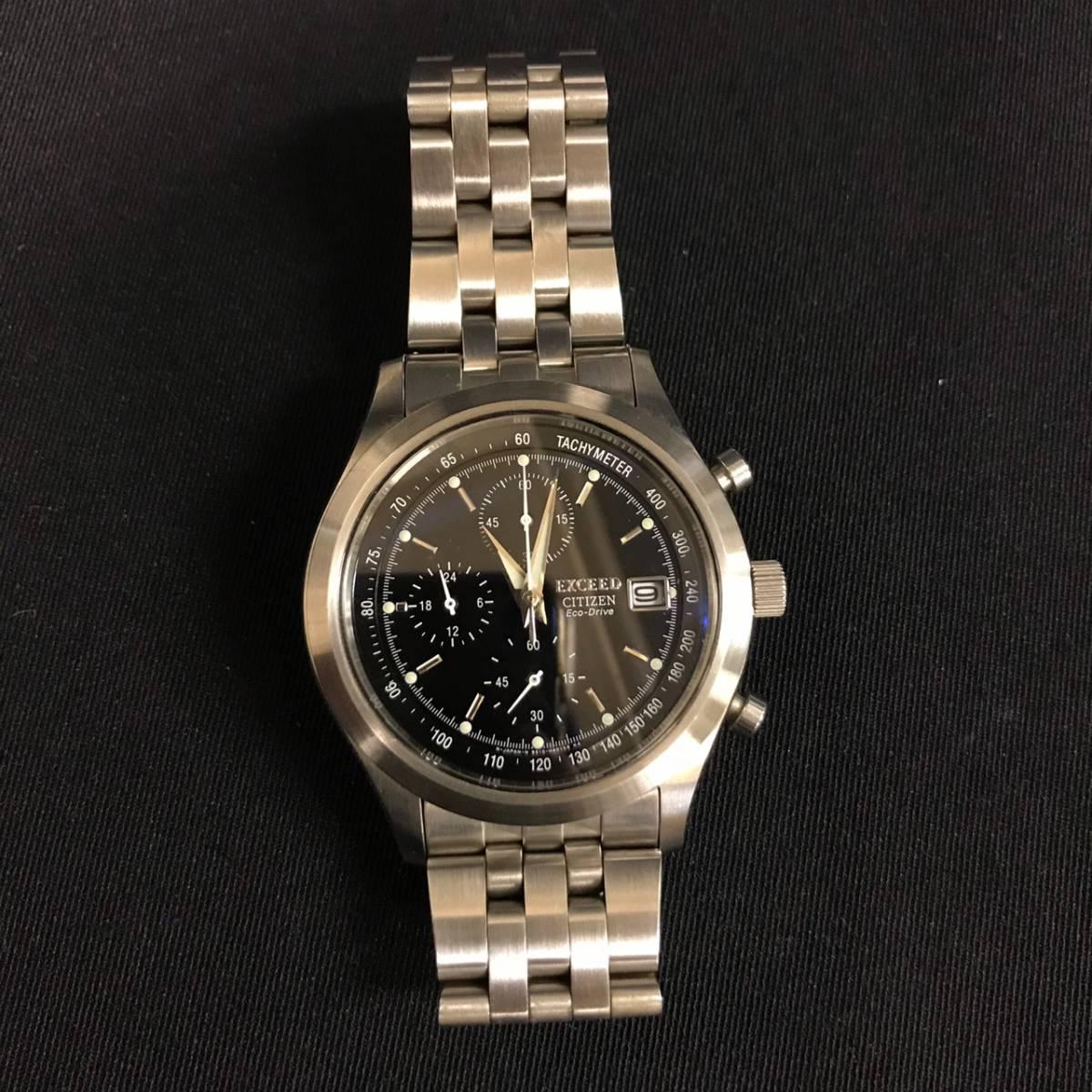 C23f01D シチズン CITIZEN エクシード エコドライブ B510 H23290 クオーツ 腕時計 自動巻き 記念品_画像3