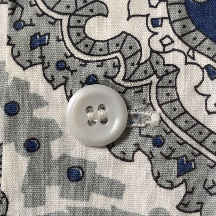 50s PERSONALITY 小紋柄 コットン ループ留め オープンカラー 半袖 シャツ ビンテージ 50年代 開襟 ペイズリー オリジナル ヴィンテージ_画像6