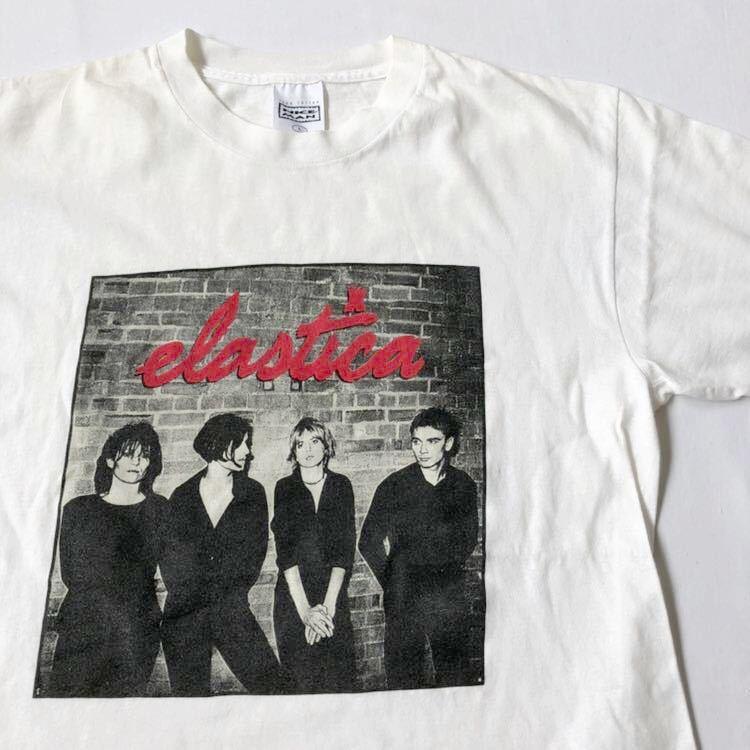 90s ELASTICA Tシャツ L USA製 ビンテージ 90年代 エラスティカ アメリカ製 オリジナル ヴィンテージ ブリットポップ ロック バンド バンT_画像1
