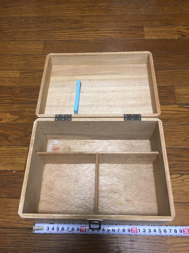 昭和レトロ、木製 救急箱_画像2