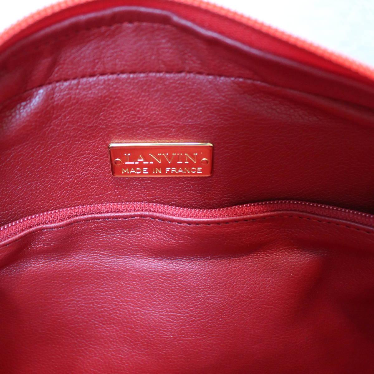 Lanvin LOGO LEATHER SHOULDER BAG MADE IN FRANCE/ランバンロゴレザーショルダーバッグ_画像9