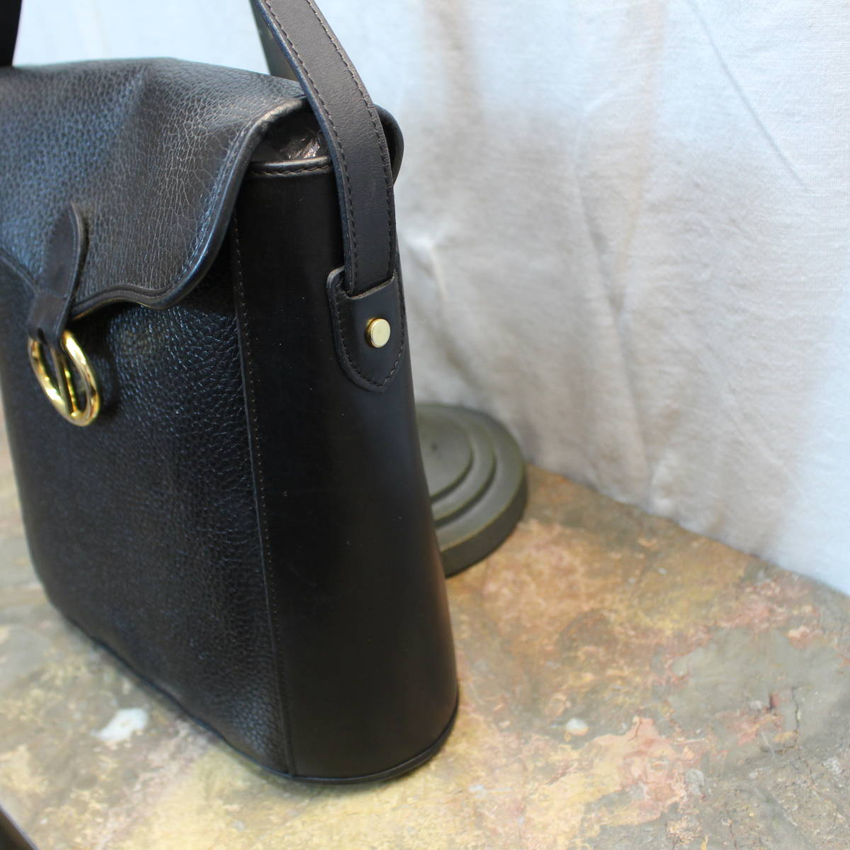 Christian Dior LEATHER SHOULDER BAG MADE IN FRANCE/クリスチャンディオールレザーショルダーバッグ_画像2