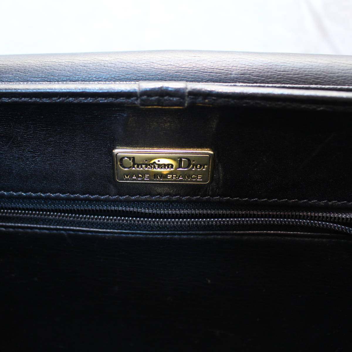 Christian Dior LEATHER SHOULDER BAG MADE IN FRANCE/クリスチャンディオールレザーショルダーバッグ_画像8