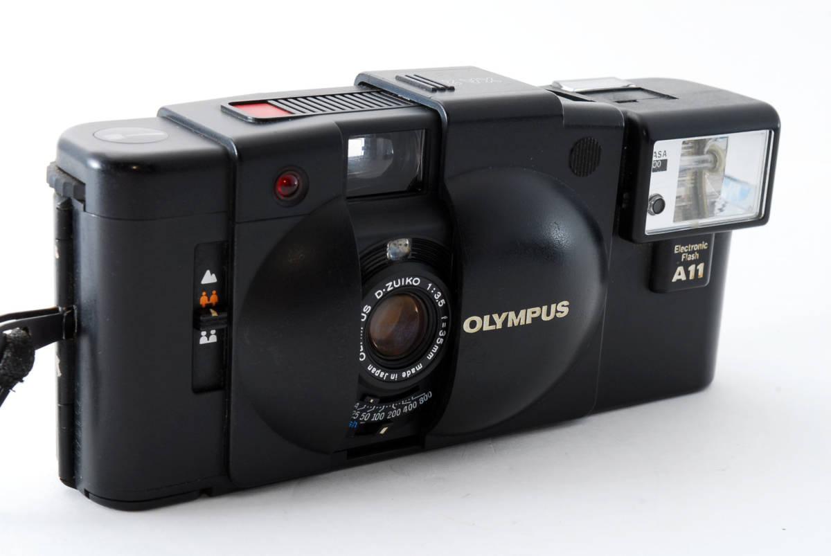 即決★Olympus オリンパス XA2 35mm Point&Shoot Camera D.Zuiko 35mm f/3.5 A11 Flash用 カメラ A1684_画像4