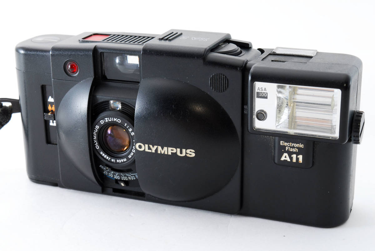 即決★Olympus オリンパス XA2 35mm Point&Shoot Camera D.Zuiko 35mm f/3.5 A11 Flash用 カメラ A1684_画像2