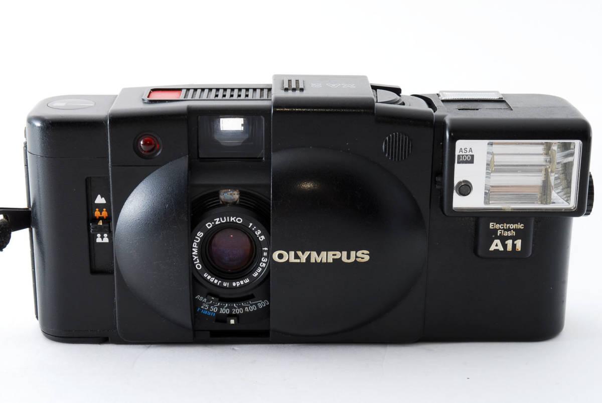 即決★Olympus オリンパス XA2 35mm Point&Shoot Camera D.Zuiko 35mm f/3.5 A11 Flash用 カメラ A1684_画像3