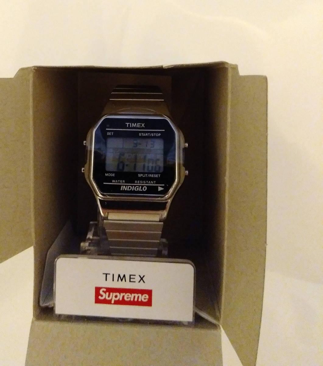 Supreme 国内正規品 19fw Timex Digital Watch Silver Week1 シュプリーム シルバー_画像2