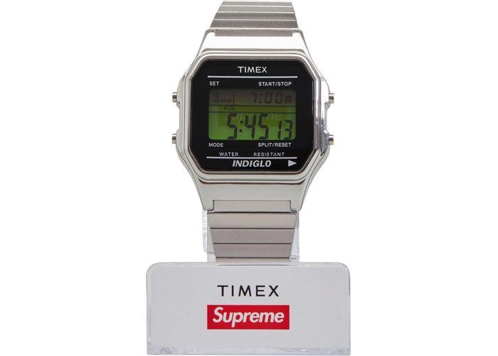 Supreme 国内正規品 19fw Timex Digital Watch Silver Week1 シュプリーム シルバー