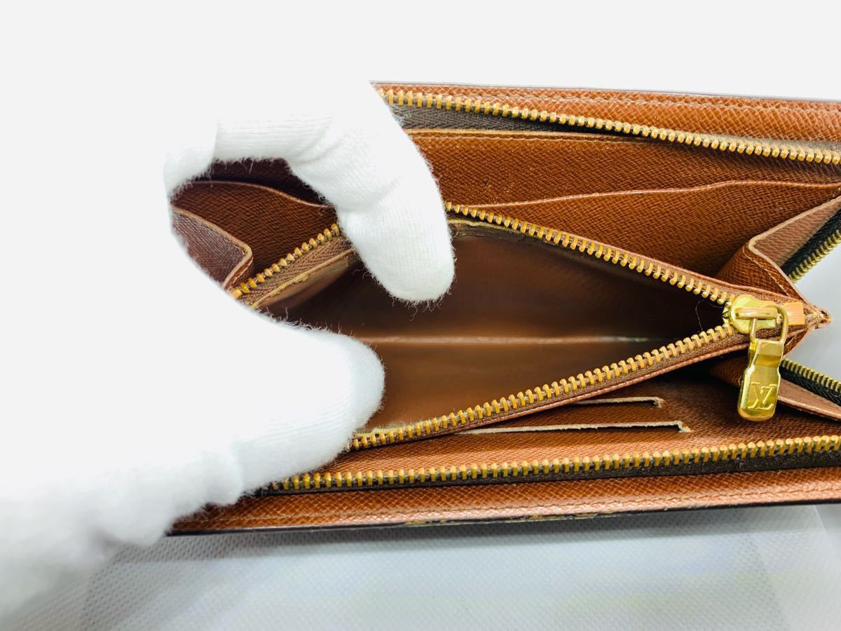 【極美品】ルイヴィトン Louis Vuitton モノグラム ポルトモネ ジップ 長財布 レザー メンズ レディース 美品 本物 1円 定価約7万_画像8