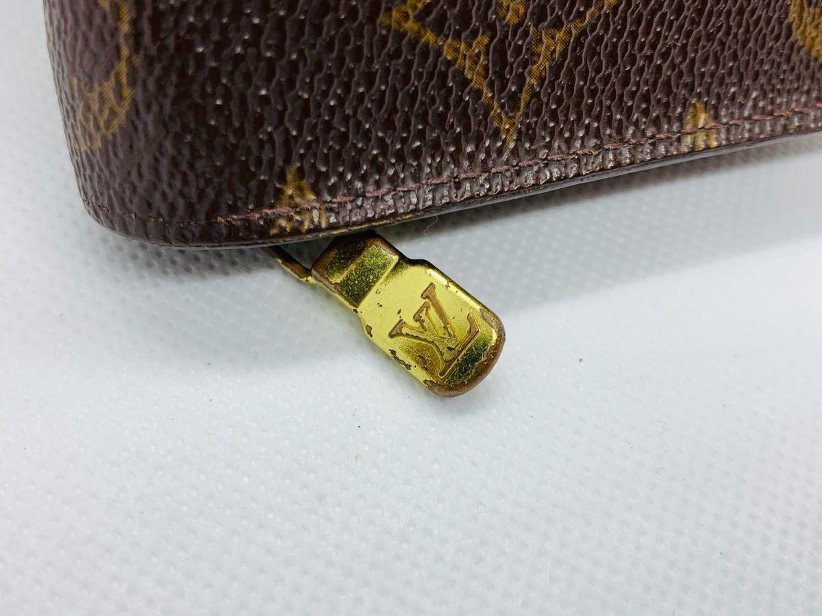 【極美品】ルイヴィトン Louis Vuitton モノグラム ポルトモネ ジップ 長財布 レザー メンズ レディース 美品 本物 1円 定価約7万_画像10