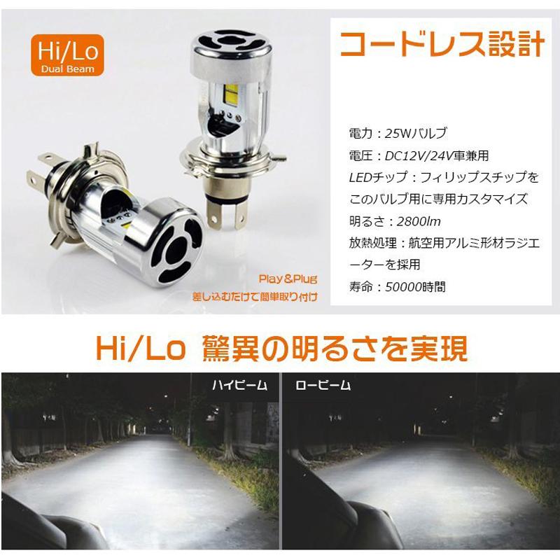 1円スタート!ワンタッチで取り付けLEDヘッドライト H4 Hi/Lo HS1にも対応 6000K 純正に限りなく近づいた逆転発想Plug-in LED 瞬時点灯_画像4