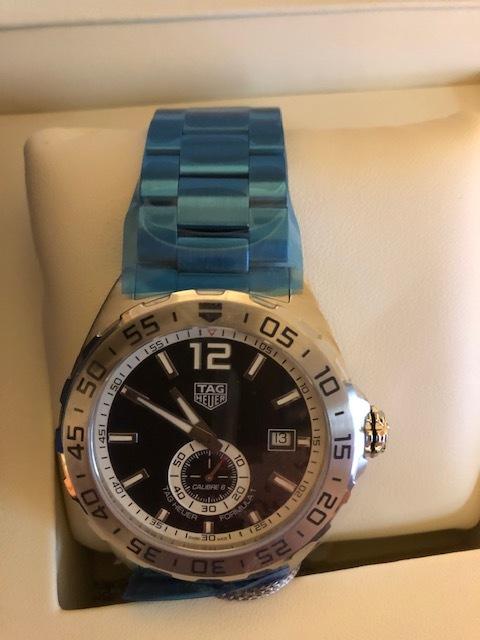 新品 未使用品 TAG Heuer タグ・ホイヤー メンズ腕時計 フォーミュラ1 WAZ2012.BA0842 カメラのキタムラで2019年6月に購入 定価199,800_画像5