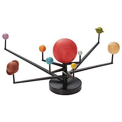 1円~ 送料無料! デッドストック 木製 天体模型 オブジェ 廃盤 (検) ミッドセンチュリー スペースエイジ 立体オブジェ 地球儀 太陽系 惑星 _画像3