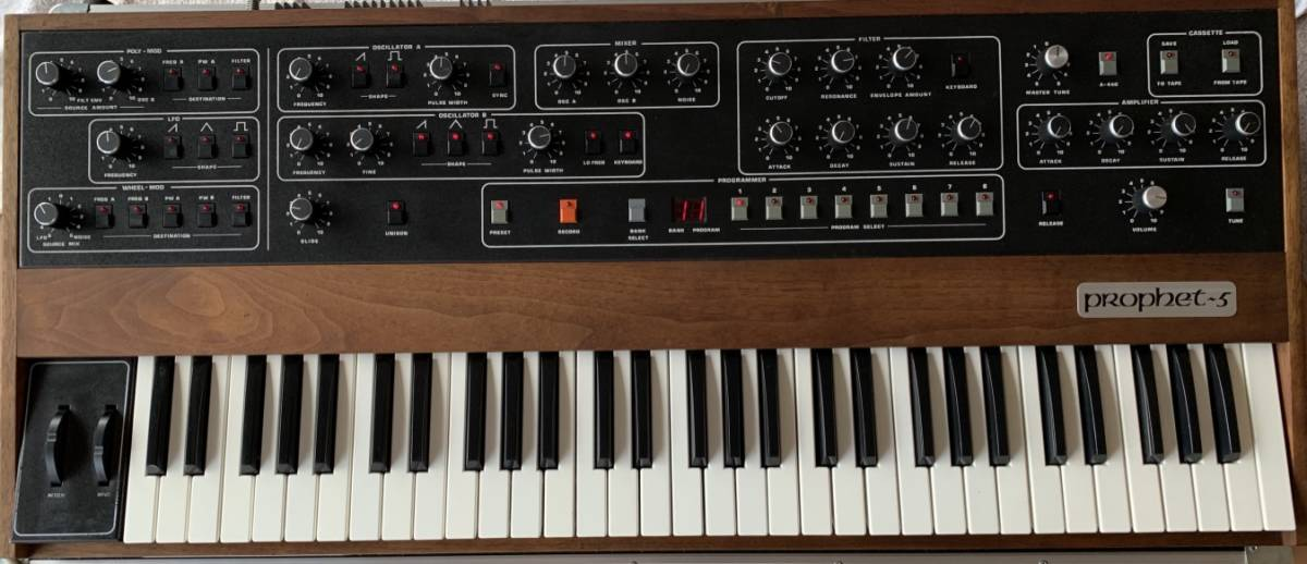 Sequential circuits Prophet 5 with MIDI and Duplex hard case_画像2