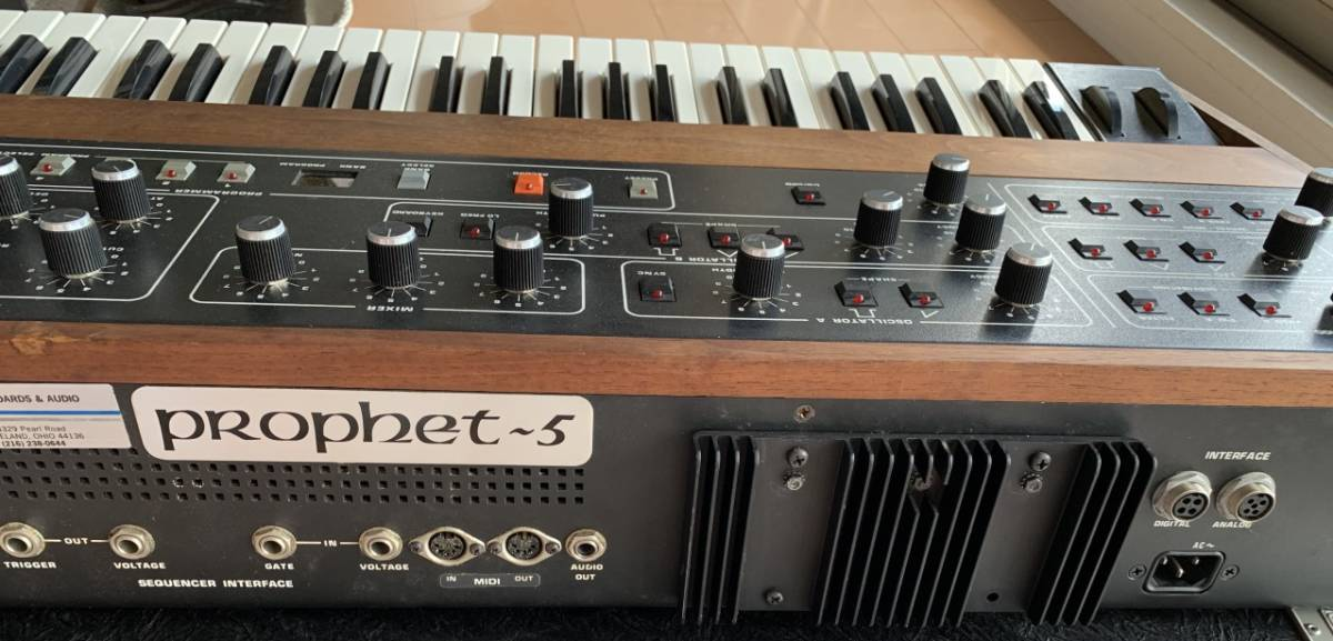 Sequential circuits Prophet 5 with MIDI and Duplex hard case_画像9