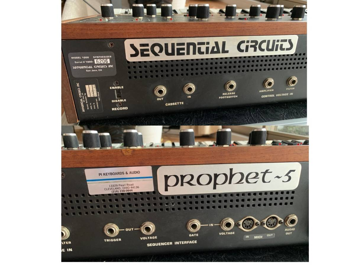 Sequential circuits Prophet 5 with MIDI and Duplex hard case_画像4