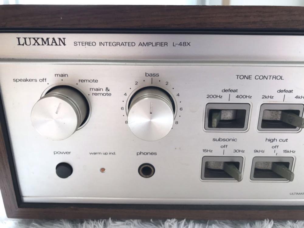 LUXMAN ラックスマン プリメインアンプ L-48X_画像5