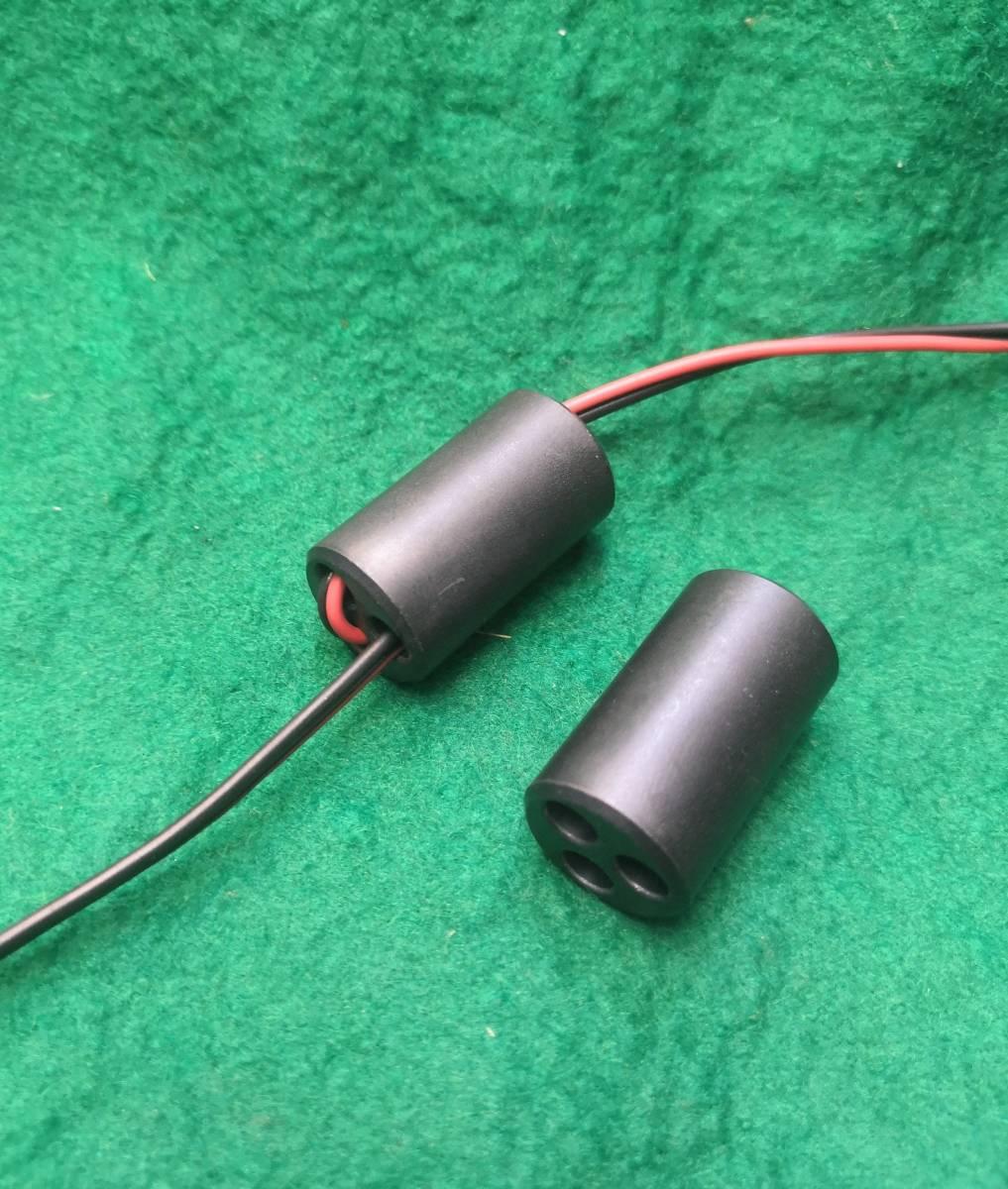 2個1組3つ穴フェライトコアノイズ防止に長さ28mm直径16mmのフェライトコアに5mmの穴が3個送料全国一律普通郵便120円_画像4