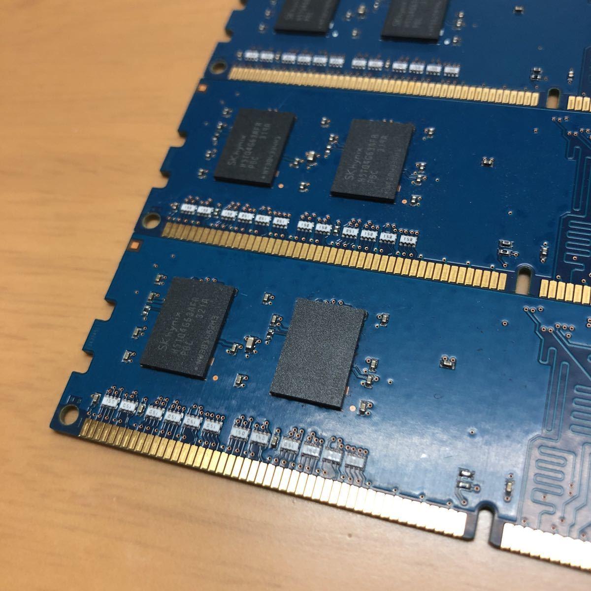 高性能 美品 SK hynix 1Rx16 PC3-12800U-11-12-C1 2GB×4枚 計8GB (DDR3 1600) 片面チップ デスクトップ PCメモリー 完動品_画像8