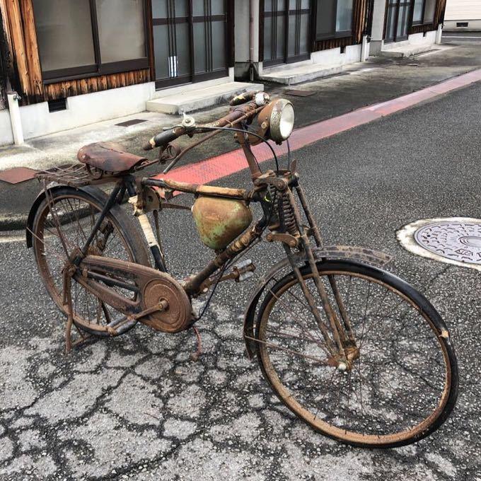 三輝工業 SUN LIGHT サンライト SMR-26 THREE PONIE BICYCLE モペッド 自転車バイク 希少 レストアベース 現状 9-15_画像2