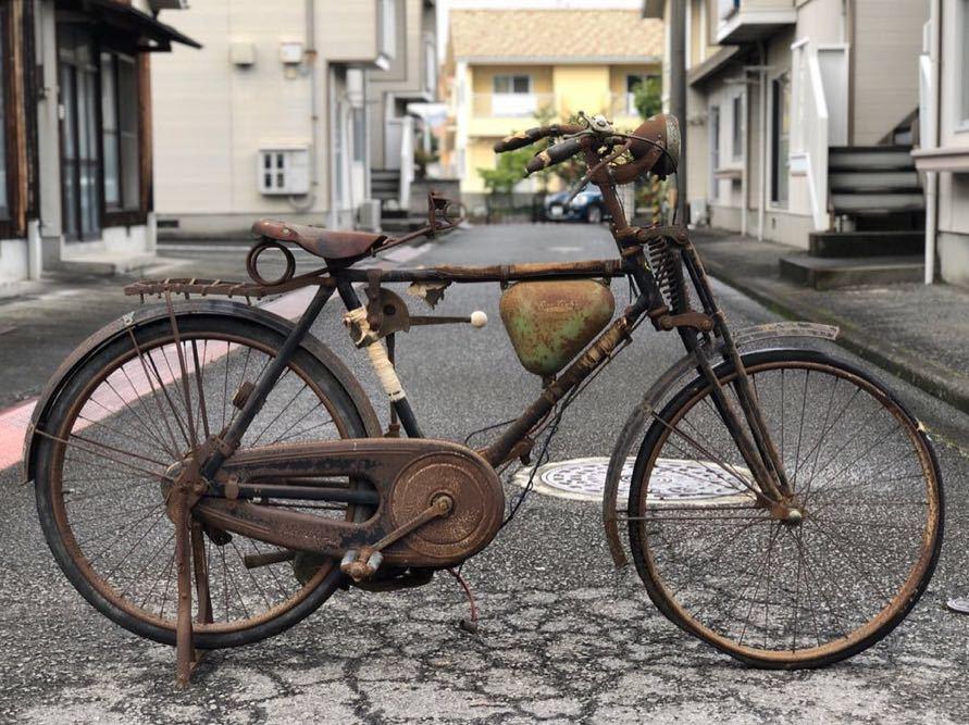三輝工業 SUN LIGHT サンライト SMR-26 THREE PONIE BICYCLE モペッド 自転車バイク 希少 レストアベース 現状 9-15_画像1