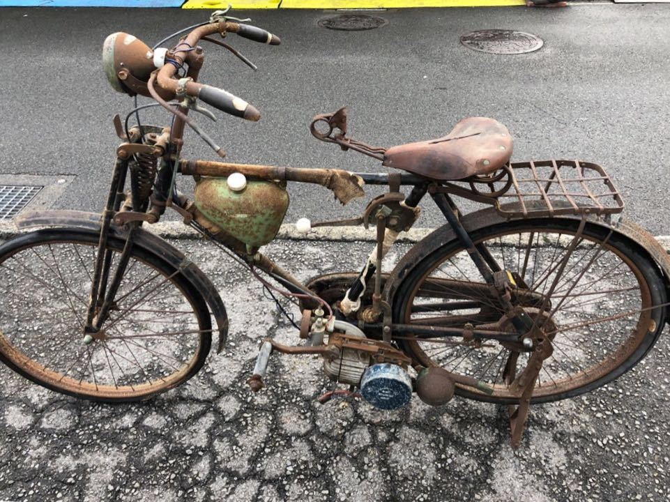 三輝工業 SUN LIGHT サンライト SMR-26 THREE PONIE BICYCLE モペッド 自転車バイク 希少 レストアベース 現状 9-15_画像6