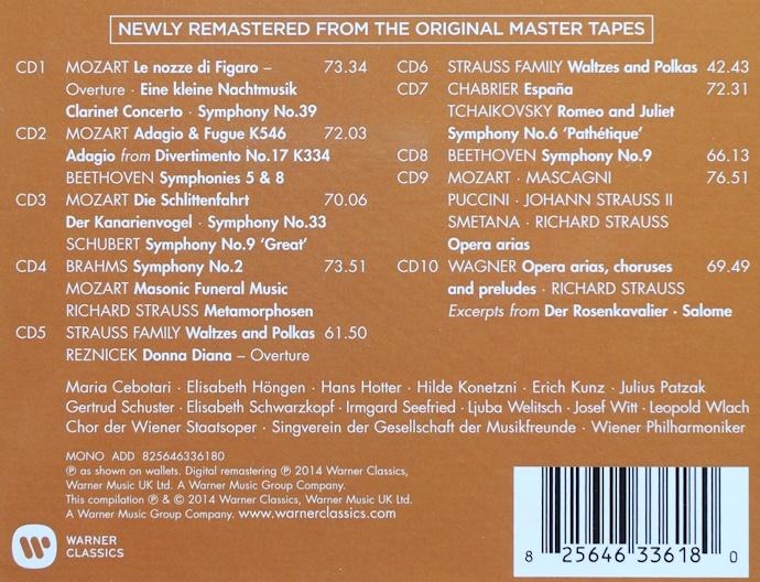 CD/10枚組/新リマスター/カラヤン/ウラッハ/シュヴァルツコップ/ウィーン・フィル/ベートーヴェン/モーツァルト/Karajan/Beethoven/Mozart_画像3