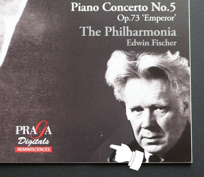 限定盤/CD/SACD/ベートーヴェン/フルトヴェングラー/エトヴィン・フィッシャー/皇帝/交響曲第5番/Beethoven/Furtwangler/Edwin Fischer_表紙に少しシワあり