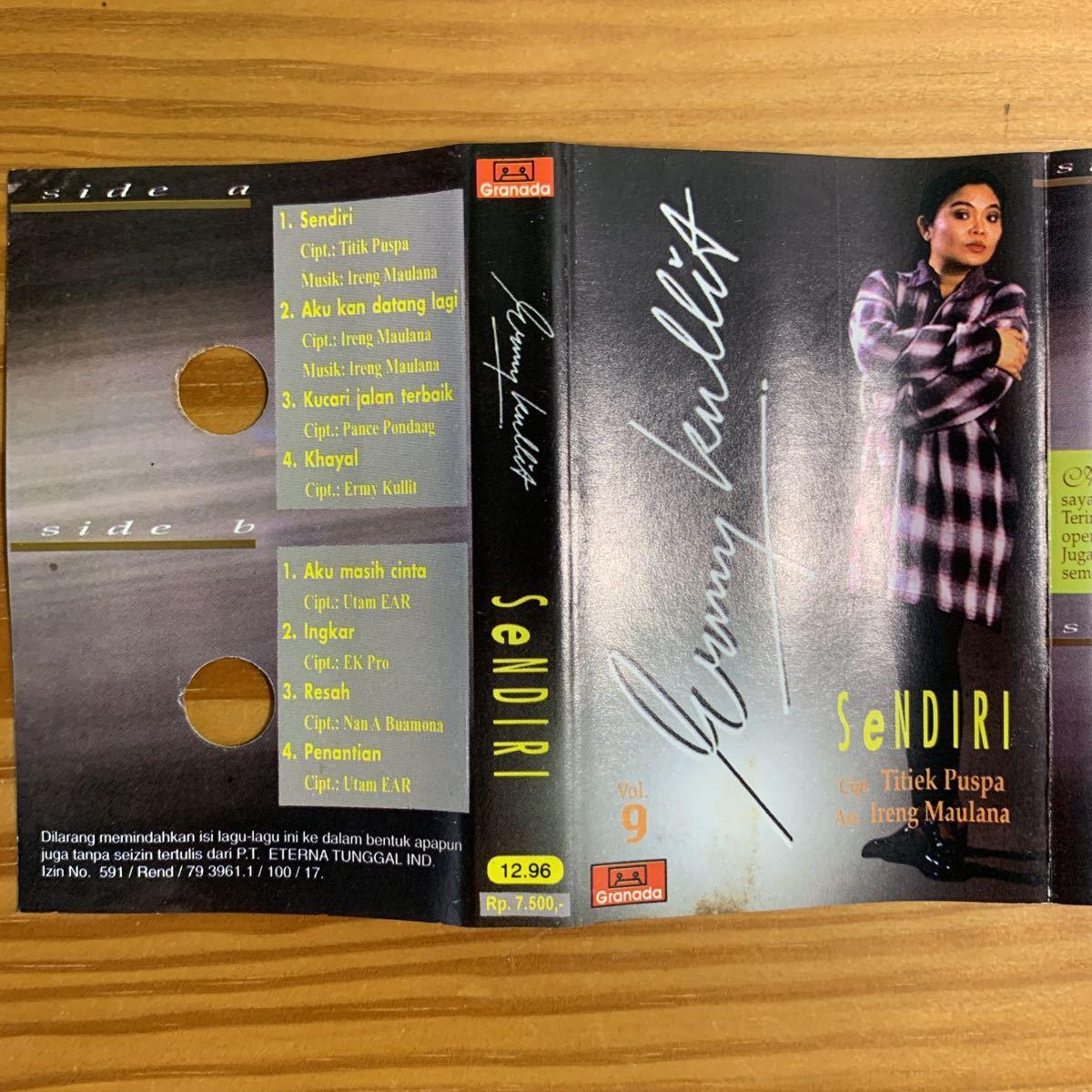 Ermy Kullit「Sendri」カセットテープ Indonesia Urban Pops / Titiek Puspa + Ireng Maulana 参加 80's 90's RARE!!_画像3