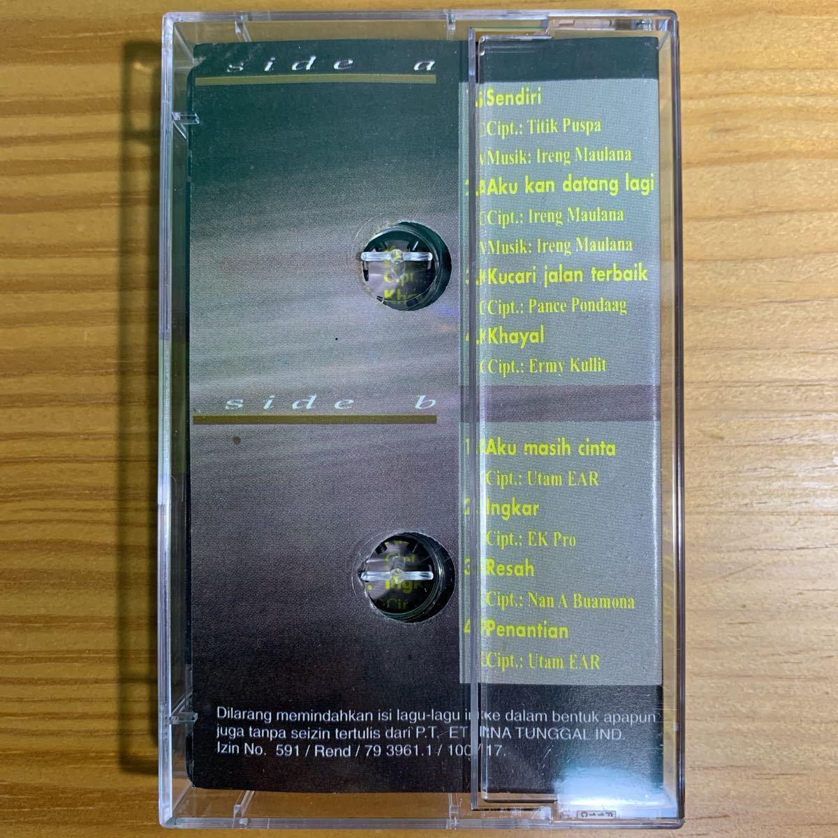 Ermy Kullit「Sendri」カセットテープ Indonesia Urban Pops / Titiek Puspa + Ireng Maulana 参加 80's 90's RARE!!_画像2