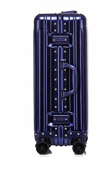 最高級・高品質※純正アルミマグネシウム合金製・軽量/静音・TSAロック搭載※クラシック・スーツケース・キャリーケース・ブルー_画像4