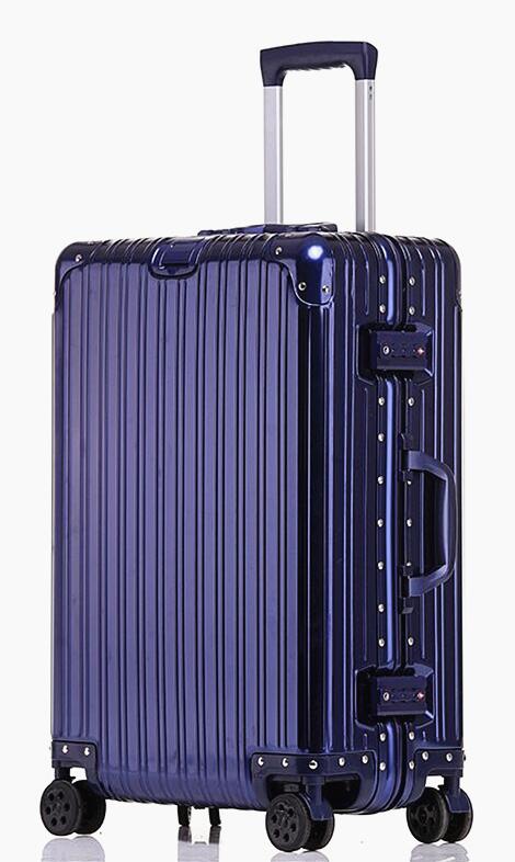最高級・高品質※純正アルミマグネシウム合金製・軽量/静音・TSAロック搭載※クラシック・スーツケース・キャリーケース・ブルー_画像2