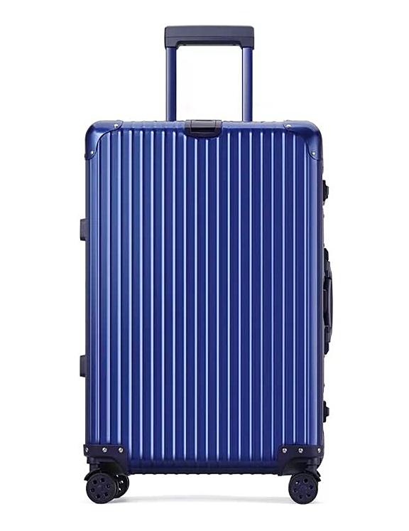 最高級・高品質※純正アルミマグネシウム合金製・軽量/静音・TSAロック搭載※クラシック・スーツケース・キャリーケース・ブルー