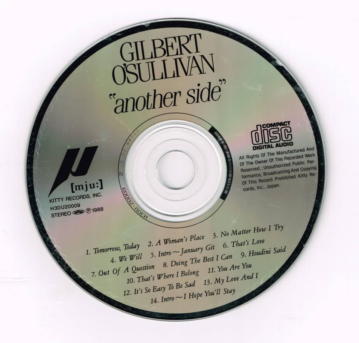 ★国内盤中古CD★Gilbert O'Sullivan/ギルバート・オサリバン★Another Side/アナザー・サイド (1988)★隠れたイイ曲を集めたベスト盤★